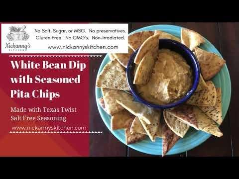 White Bean Dip With Pita Chips Recipe