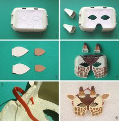 #Egg #carton #giraffe #mask #Africa #craft || #Africa for #kids