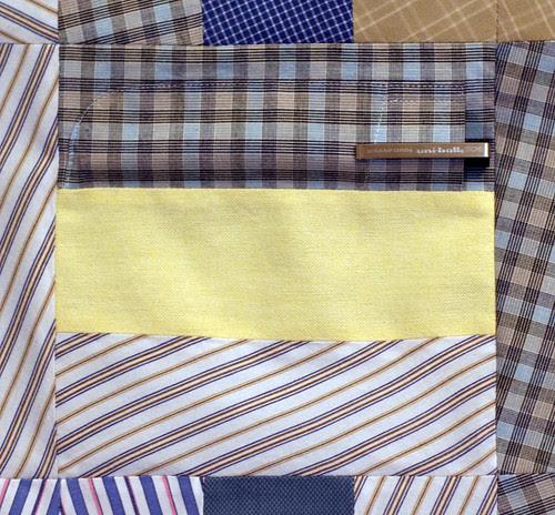 Quilt top detail: pocket