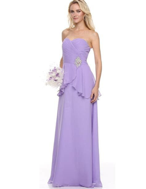 BDZ780 Long Bridesmaid Dresses Strapless Sweetheart