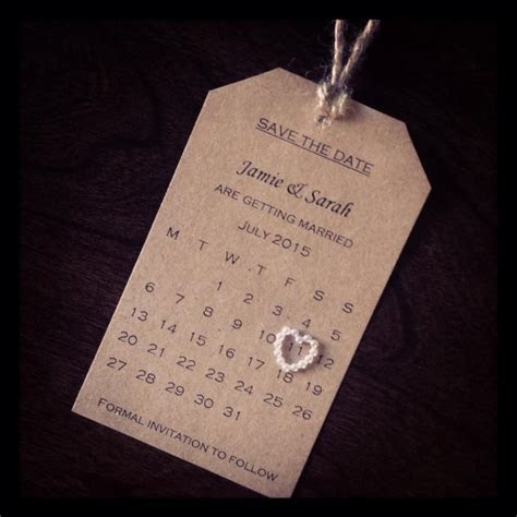Save The Date #wedding #homemade #simplicity   Wedding