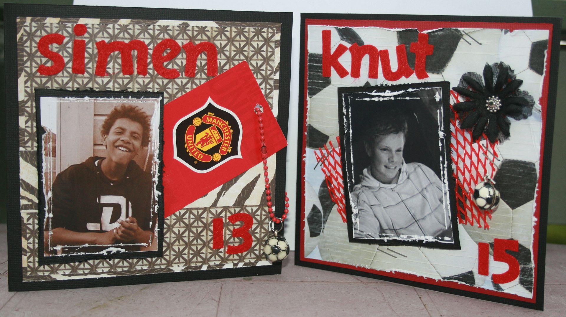 Simen 13 år og Knut Marius 15 år