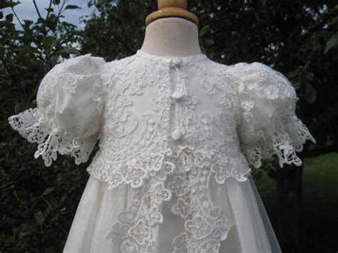 Designer Lace Christening Gown   Couture Handmade Baptism
