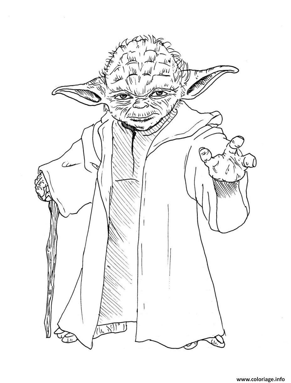 Coloriage Yoda Star Wars Jecoloriecom