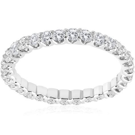 1 1/2 cttw Diamond Eternity U Prong Ring Womens Stackable