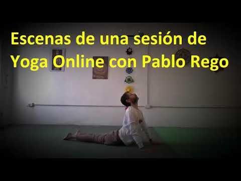 Video: Escenas de una sesión de Yoga Online con Pablo Rego.