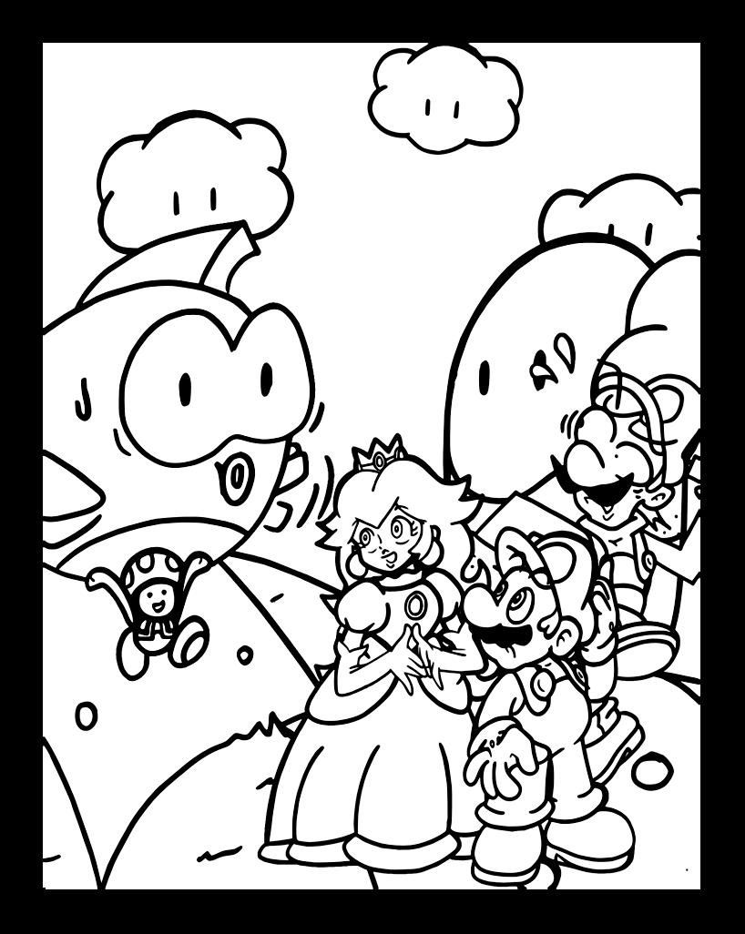 Coloriage mario bros gratuit dessin a imprimer 82