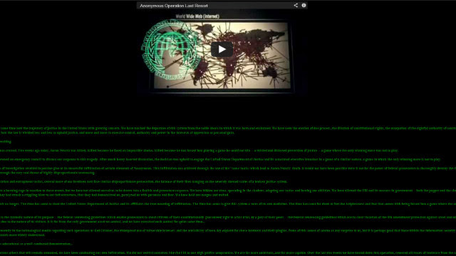 A screenshot at 3:35 a.m. ET on January 26, 2013, of the homepage of the United States federal sentencing website after it had been hacked by a group that identified itself as
