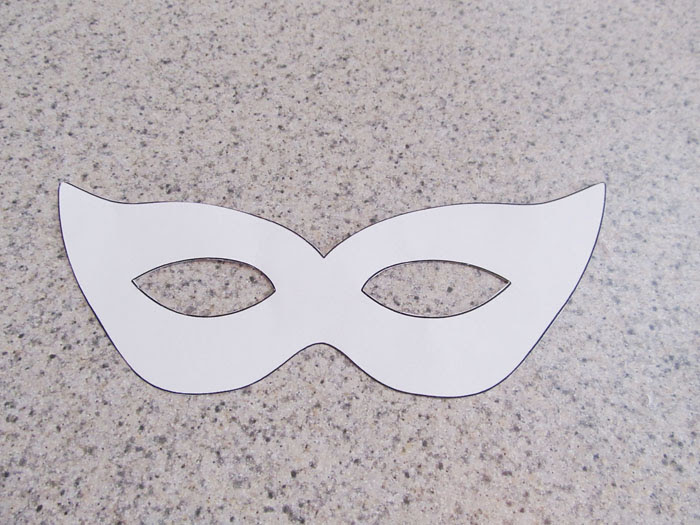 The cut out mask template.
