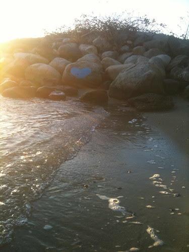 Blue Heart @ Sunset Beach