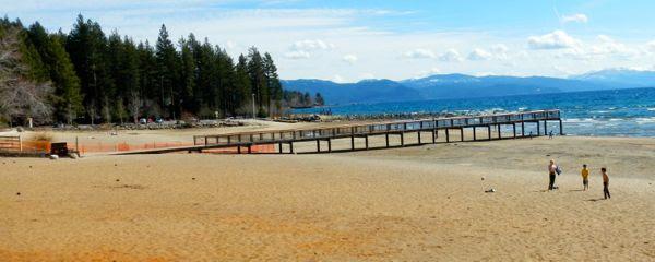 Tahoe piers-drought: Kings Beach