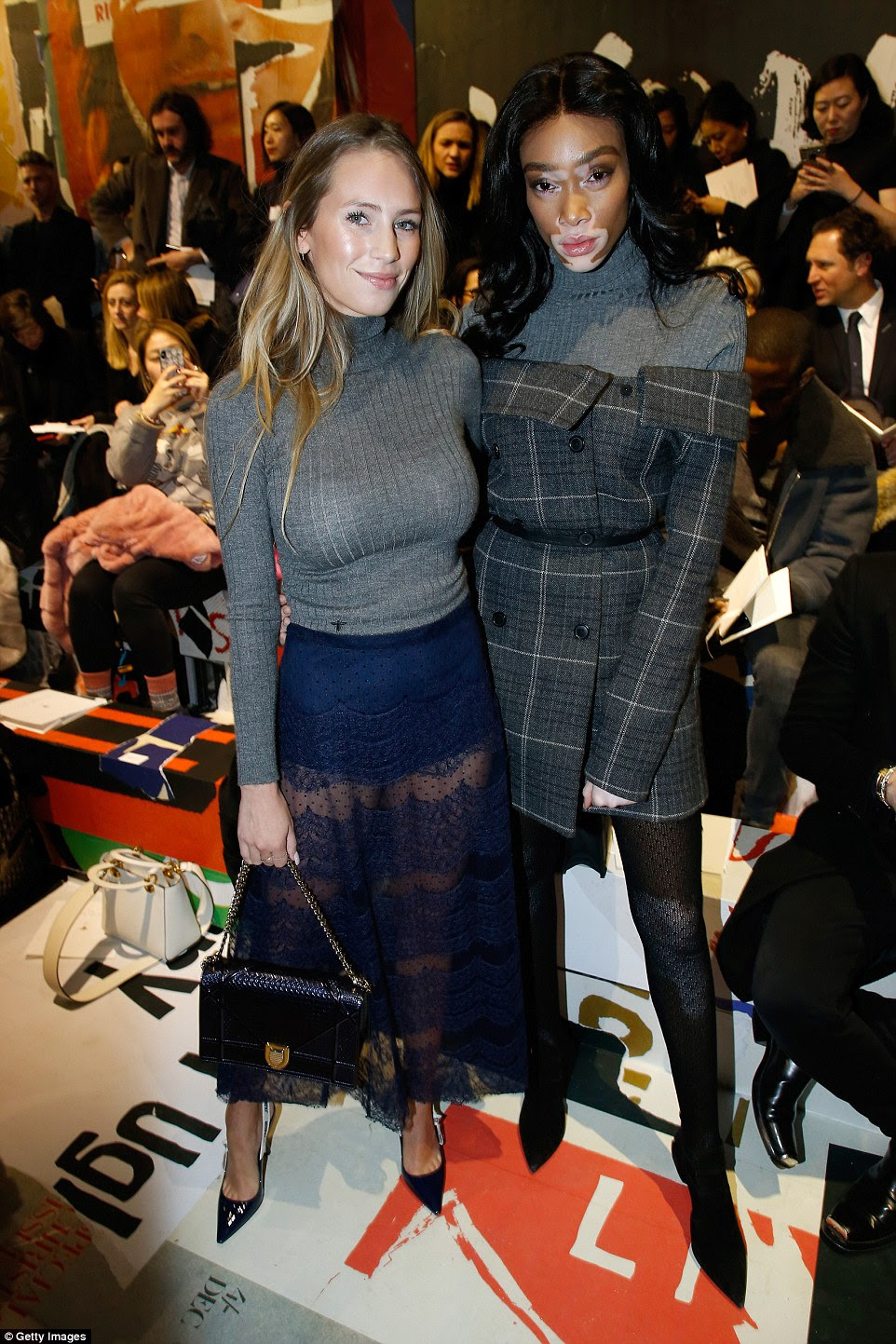 Strike a pose: Dylan Penn and Winnie (R) caught up ahead of the show
