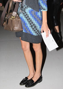 Alexa Chung in loafers