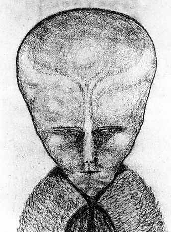Lam. Aleister Crowley claims to have contacted an alien intelligence and he made a drawing of what it looked like in 1918.