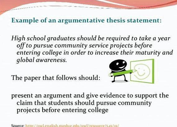 writing a thesis statement for middle school students
