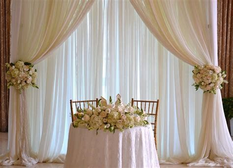 Wedding Sweetheart table backdrop,   Chez Rose floral