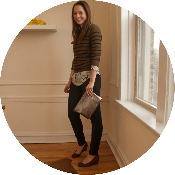 dot of stripes, bird-print shirt, pattern-mixing, coated jeans, wear to work, ootd, outfit blog, what to wear with, winter boots, suede wedges