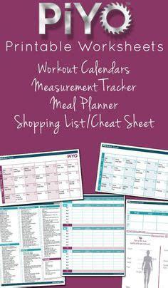 piyo workout calendar  schedule    print