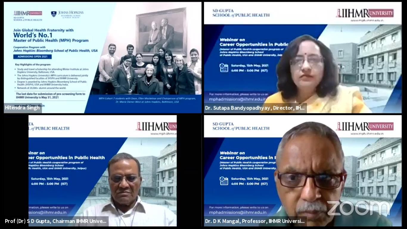 IIHMR University counsels over 1000 candidates for 'Career opportunities in Public Health' for MPH Program