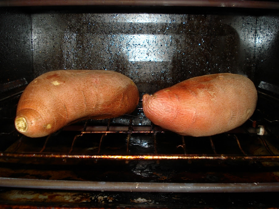 05 yams in toaster oven