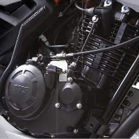 TVS Apache RTR 180 engine view Picture