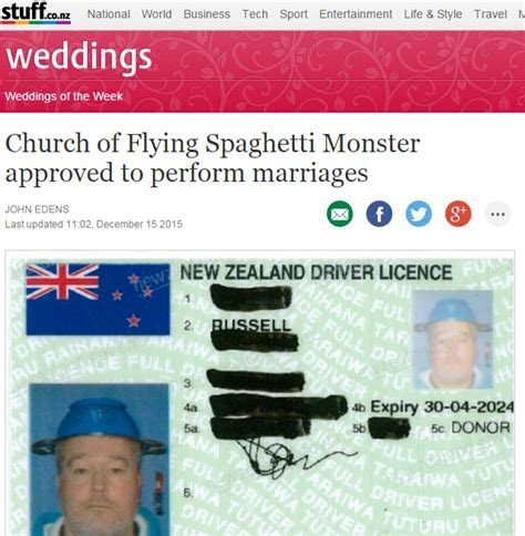 New Zealand government approves Pastafarian marriage