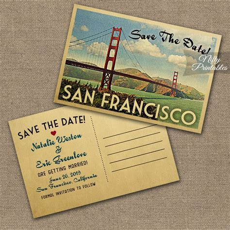 San Francisco Wedding Invitations VTW   Nifty Printables