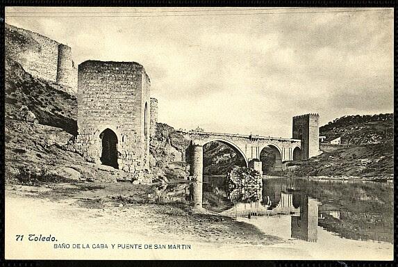 Baño de la Cava (Toledo) a principios del siglo XX. Foto Lacoste