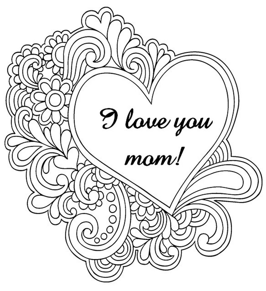 Free Mothers Day Coloring Pages for Adults to Print Out 37120