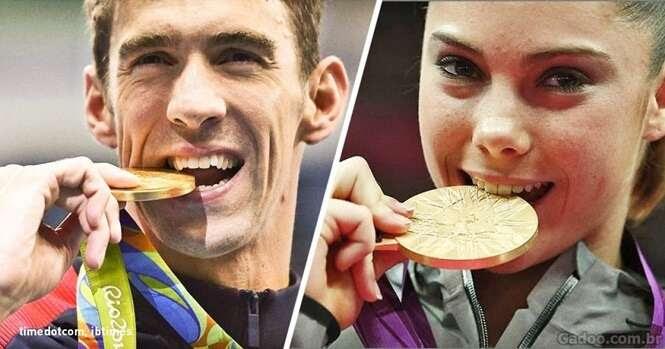 Você sabe por que os campeões olímpicos mordem suas medalhas?