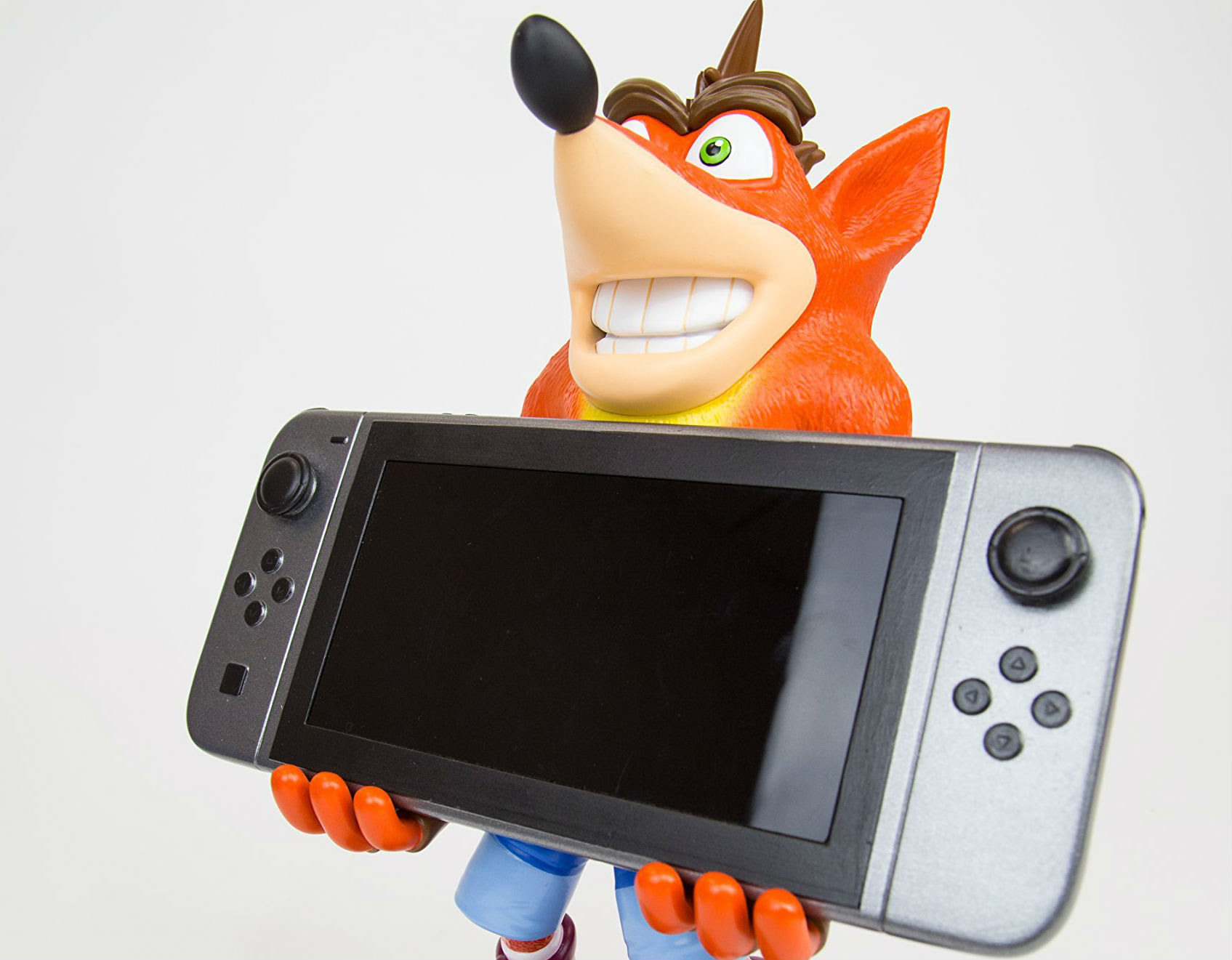This Crash Bandicoot Switch holder will stare into your soul screenshot
