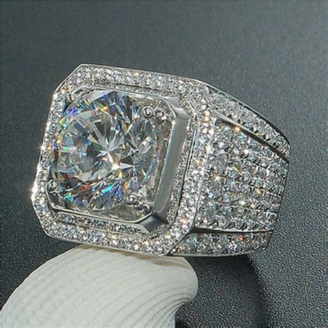 18K White Gold ICED OUT Simulated Lab Diamond Band