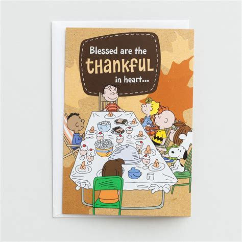 Peanuts   Thanksgiving   Blessed Are the Thankful in Heart