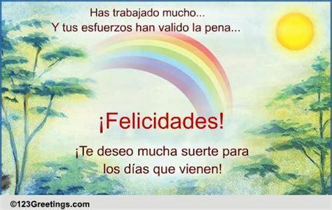 A Spanish Congratulation Card! Free Congratulations eCards