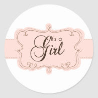 It's a Girl Cupcake Toppers/Stickers