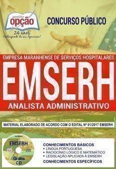Apostila Concurso EMSERH 2018 | ANALISTA ADMINISTRATIVO