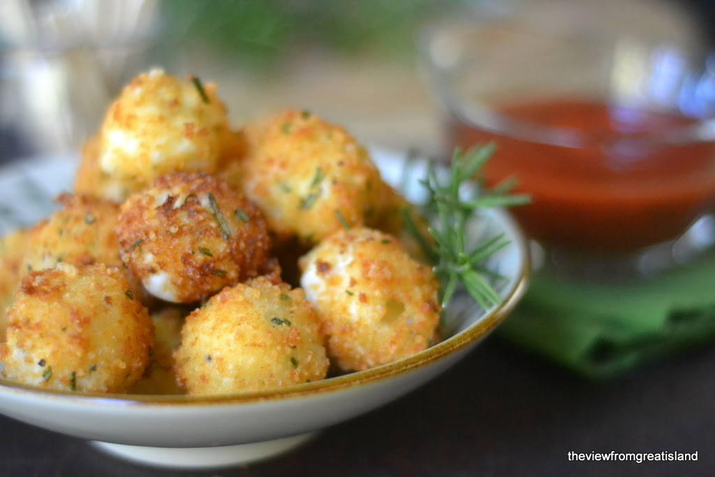 Fried Rosemary Mozzarella Balls | The View from Great Island