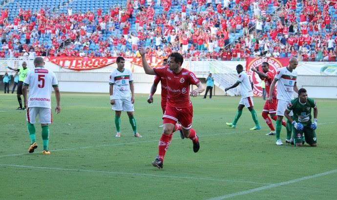 Gol de Luiz Eduardo - América-RN x Salgueiro Arena das Dunas Série C (Foto: Canindé Pereira/América FC/ Divulgação)