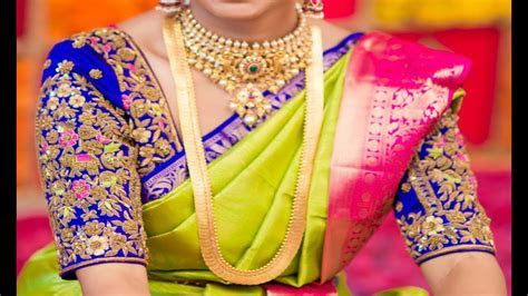 Exclusive 2017 Latest Bridal Pattu Saree Blouse Designs