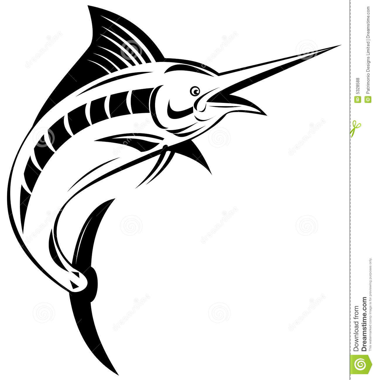 Blue Marlin Fish Coloring Pages