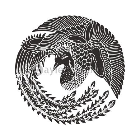 飛び鳳凰の丸の写真イラスト素材 写真素材ストックフォトの定額制