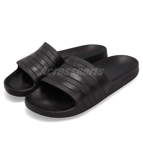 adidas adilette aqua triple black men women sports sandals  slipper  ebay