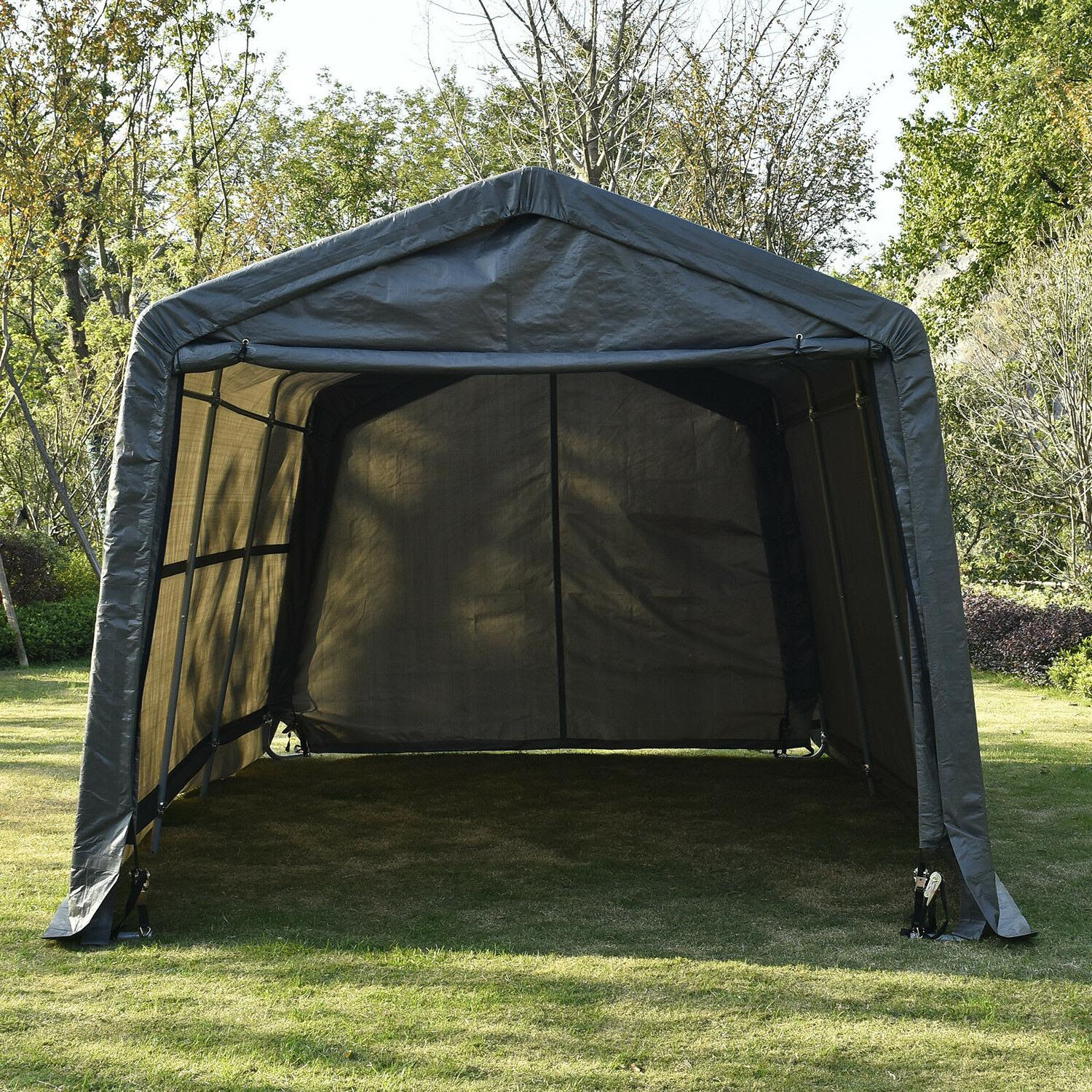10x15x8Ft Advanced Ripstop Instant Garage Storage Shed Canopy