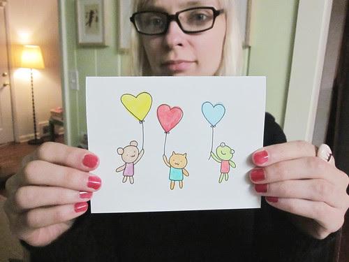 Heart Balloon Valentine's Day Card