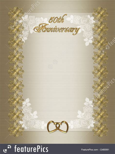 Illustration Of 50Th Wedding Anniversary Invitation Template