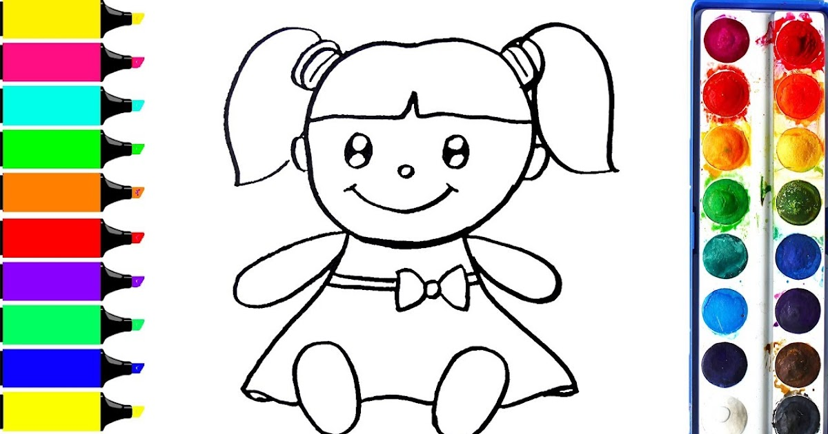 20 New For Doll Drawing For Kids With Colour