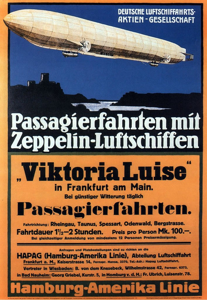 HAPAG Airship Flights. 1912