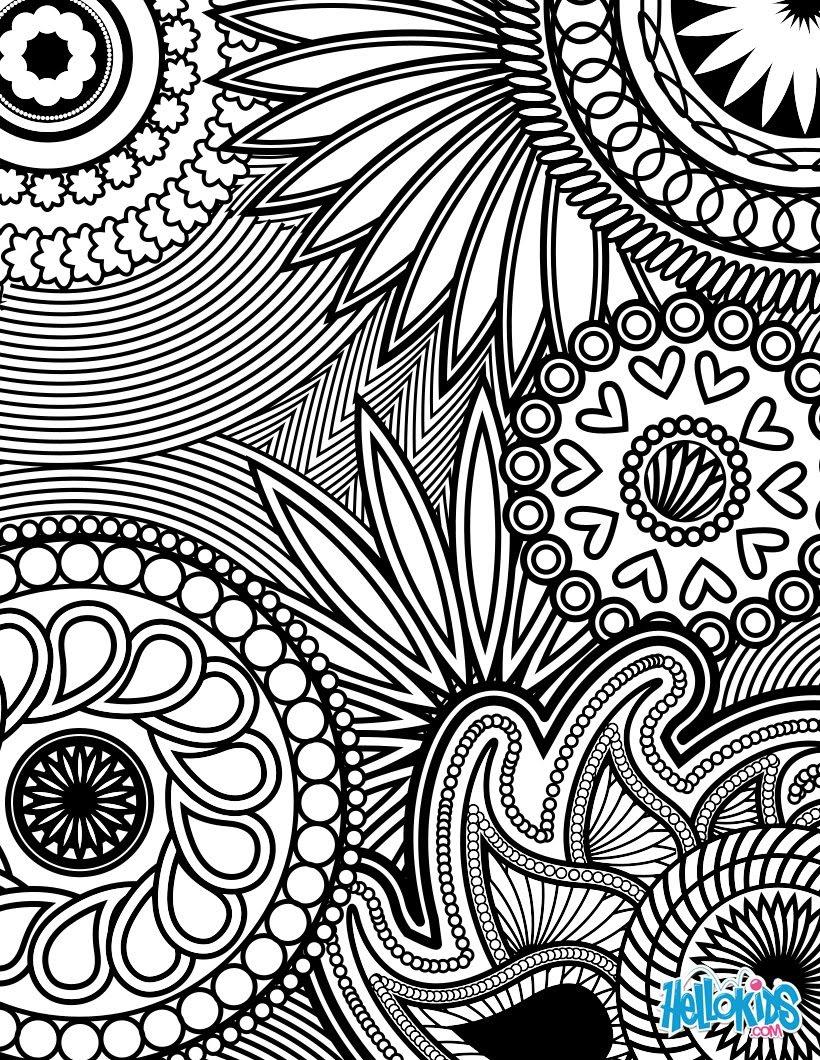 Mandala Vintage Coloring Pages Hellokidscom
