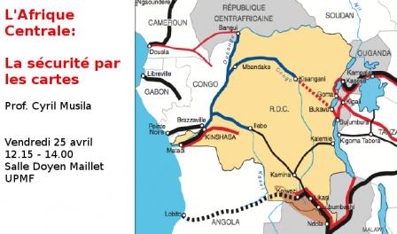 La Carte De Lafrique Centrale