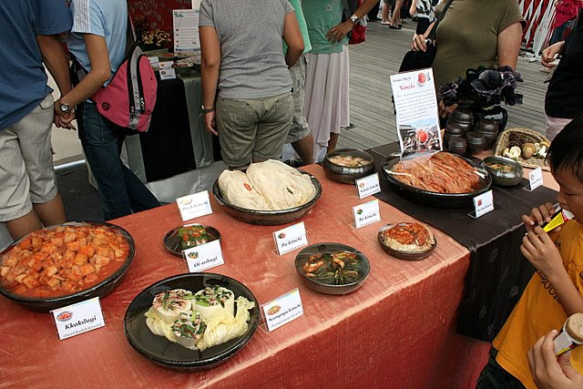 Nine different kinds of kimchi on display at Korea Festival 2008
